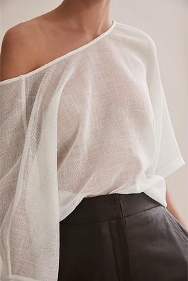 Country Road Mesh Kimono Sleeve Top