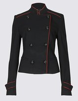 Per Una Contrast Piped Jacket