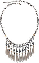 JCPenney MIXIT Mixit Gray-Tone Pink and Neutral Bead Drop Statement Necklace