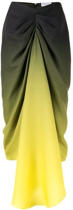 Halpern Colour Block Ruched Skirt