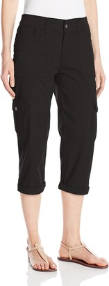 Lee Women's Missy Relaxed Fit Austyn Knit Waist Cargo Capri Pant