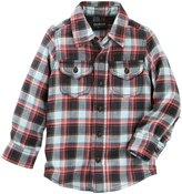 Osh Kosh Button Front Shirt (Toddler/Kid) - Plaid - 5T
