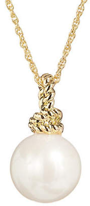 Kate Spade Sailors Knot Faux Pearl Pendant Necklace