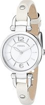Fossil Women's ES3808 Georgia Stainless Steel Watch with Leather Band