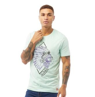 Von Dutch Mens V-Apache Graphic T-Shirt Mint