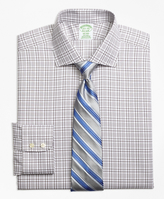 Brooks Brothers Non-Iron Madison Fit Glen Plaid Dress Shirt