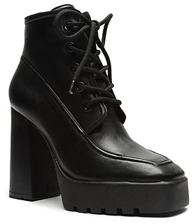 Schutz Women's Taliani Lace Up High Heel Booties