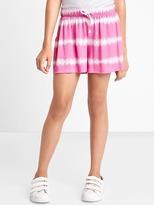 Tie-dye drapey shorts