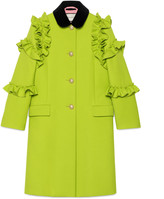Gucci Wool ruffle coat