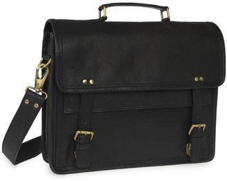 Vida Vida Wandering Soul Black Leather Messenger Bag