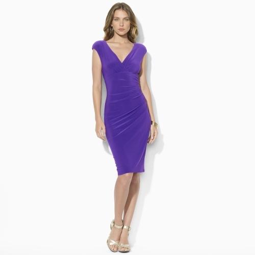 Ralph Lauren Jersey Empire-Waist Dress