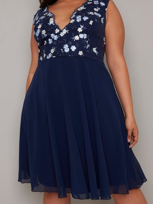 Chi Chi London Curve Samar Dress - Navy
