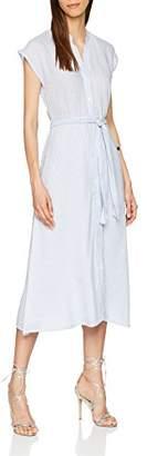 Warehouse Women's Stripe Shirt Midi Dress, Blue 33, 6 (Size:6)