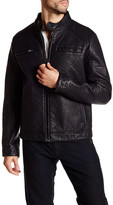 Rogue Bonded Faux Leather Racer Jacket