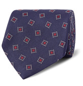 Dunhill - 8cm Woven Mulberry Silk-twill Tie