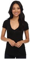 Three Dots Jersey Colette S/S Deep V-Neck Women's T Shirt