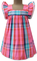 Carnival Plaid Angel-Sleeve Dress - Infant, Toddler & Girls