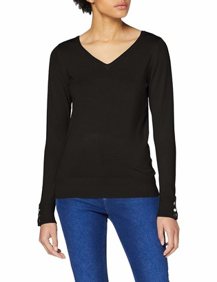 Dorothy Perkins Women's Black V Neck Jumper Sweater 16