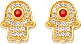 Astley Clarke Mini Hamsa 18ct yellow gold-plated earrings