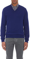 Luciano Barbera Men's V-Neck Cashmere Sweater