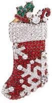 Nadri Jolly Stocking Christmas Pin