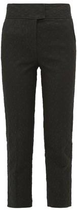 Rebecca Taylor Cotton-blend Jacquard Trousers - Black