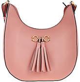 C. Wonder As Is Pebble Leather Hobo Handbag w/Hrdwr & Tassel Detail