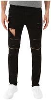 Rustic Dime Knee-Zip Taper Fit in Black Sliced