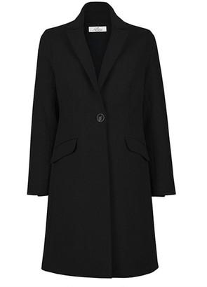 Allora Wool Cashmere Tailored Coat - Black