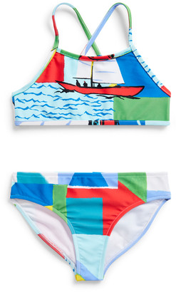 Ralph Lauren Sailboat Two-Piece Swimsuit