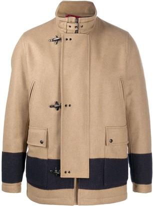 Fay Bold-Stripe Duffle Coat