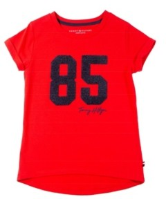 Tommy Hilfiger Big Girl's Chenille Applique Tee