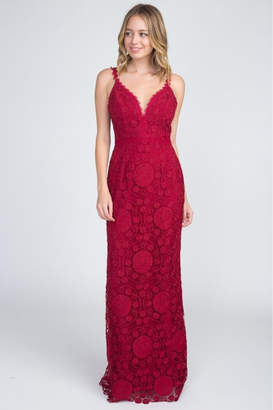 Minuet Lace Backless Gown