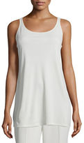 Eileen Fisher Sleeveless Scoop-Neck Lightweight Jersey Tank
