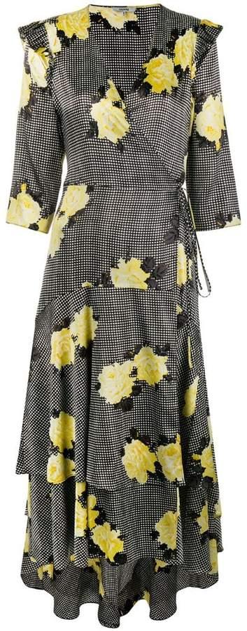 Ganni floral flared dress