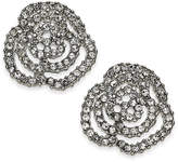 INC International Concepts Silver-Tone Pave Rosette Stud Earrings, Created for Macy's