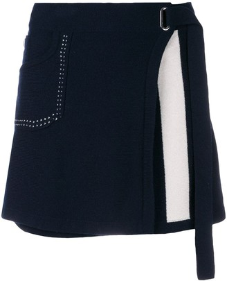 Barrie Cosmopolitan cashmere wrap skirt