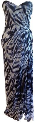 Monique Lhuillier Blue Silk Dresses