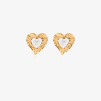 Saint Laurent Heritage Radiating Heart earrings