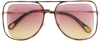 Chloé Eyewear Floating Frame Sunglasses