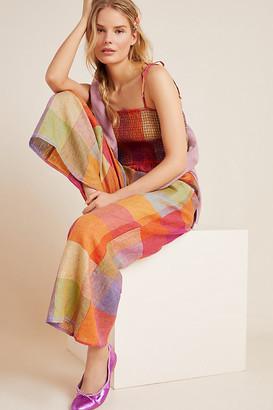 d.RA Sierra Smocked Linen Jumpsuit By in Orange Size XS