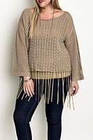 Umgee USA Fringed Sweater Top
