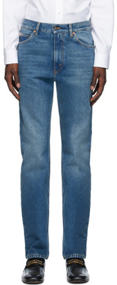 Gucci Blue Wash Regular Fit Jeans