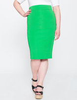 ELOQUII Plus Size Textured Scuba Pencil Skirt