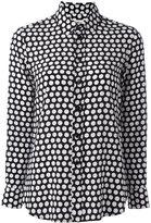 Saint Laurent Paris collar polka dot shirt - women - Silk - 38