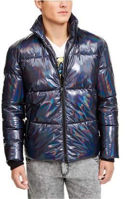 INC International Concepts Inc Men Onyx Iridescent Puffer Jacket