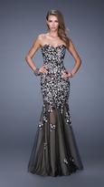 La Femme 20424 Sequined Lace Mermaid Dress
