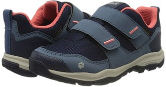 Jack Wolfskin Kids Mountain Attack 3 Texapore Low VC (Toddler/Little Kid/Big Kid) (Dark Blue/Rose) Girl's Shoes