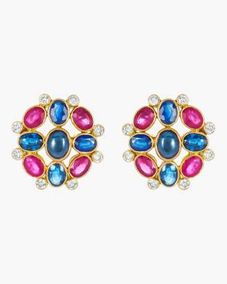 Amrapali Ruby and Sapphire Earrings
