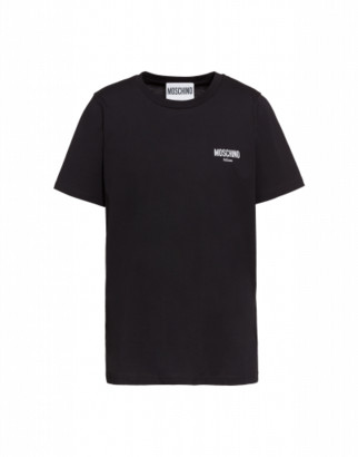 Moschino Jersey T-shirt With Logo Man Black Size 44 It - (34 Us)